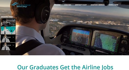 Australian National Airline College - SEO Client